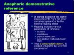 anaphoric demonstrative reference