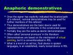 anaphoric demonstratives