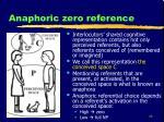anaphoric zero reference