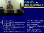full nps vs demonstratives