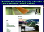 multimodal analysis lab singapore collaboration of social scientists and computer scientists