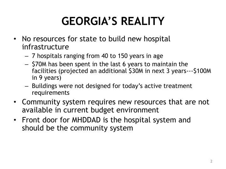 Georgia s reality