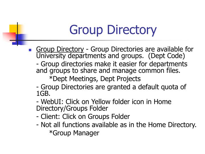 Group Directory