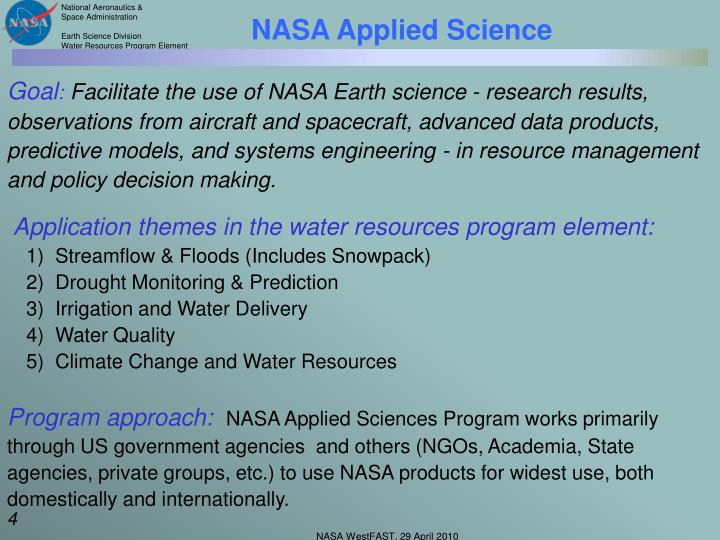 NASA Applied Science