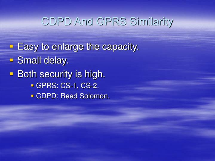 CDPD And GPRS Similarity