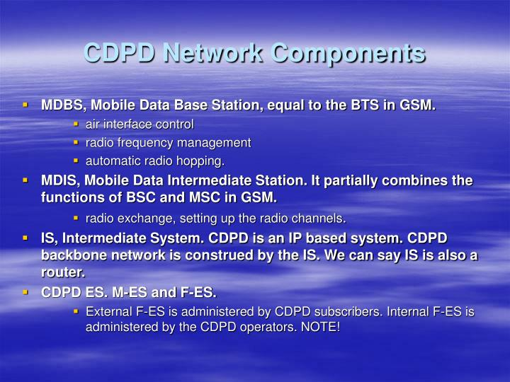 CDPD Network Components