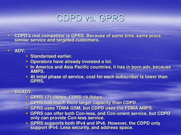 CDPD vs. GPRS