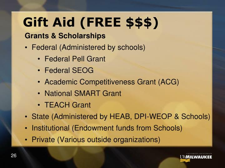 Gift Aid (FREE $$$)