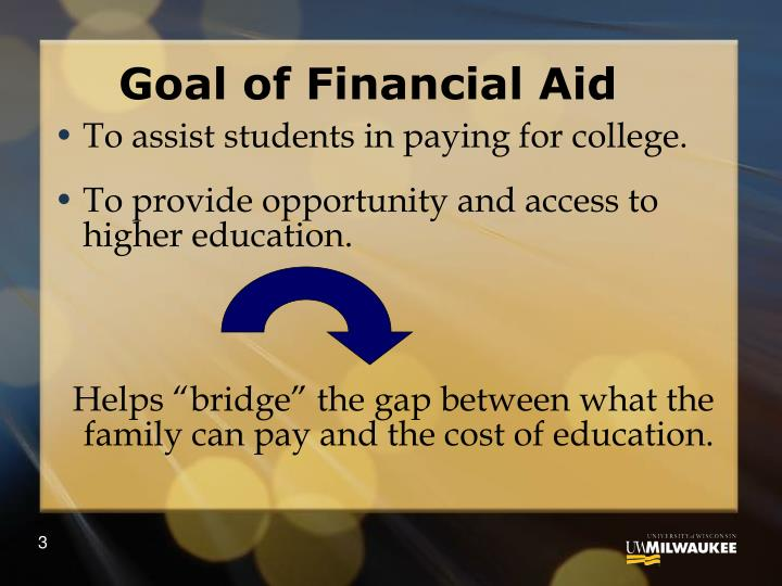 Goal of financial aid