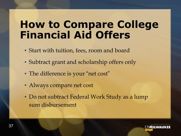 How to Compare College Financial Aid Offers