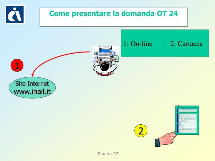 Come presentare la domanda OT 24