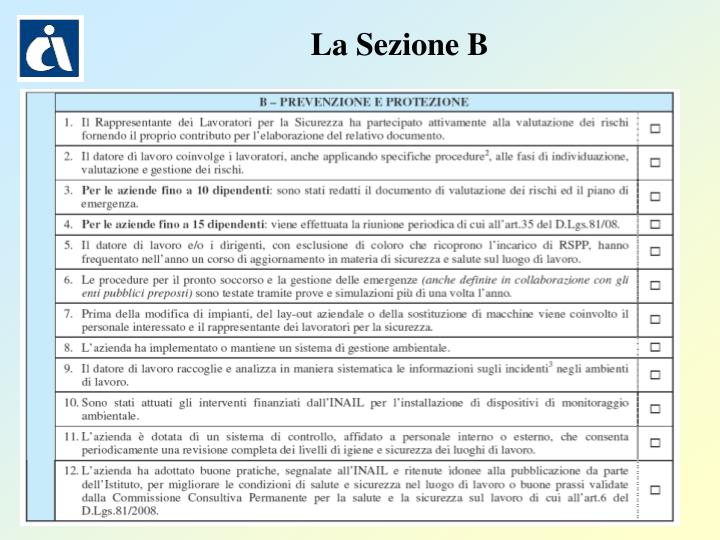 La Sezione B