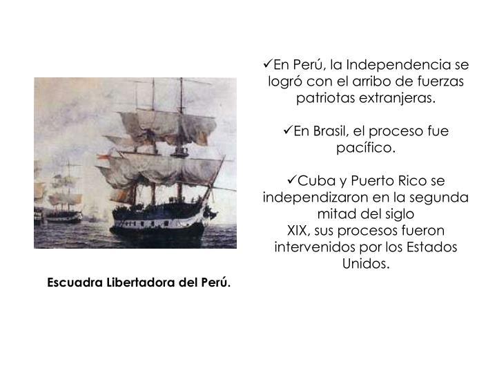 Escuadra Libertadora del Perú.