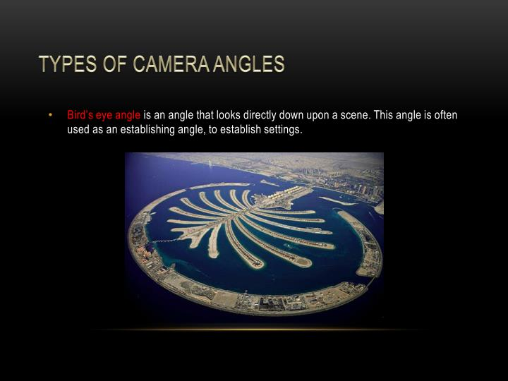 Types of camera angles
