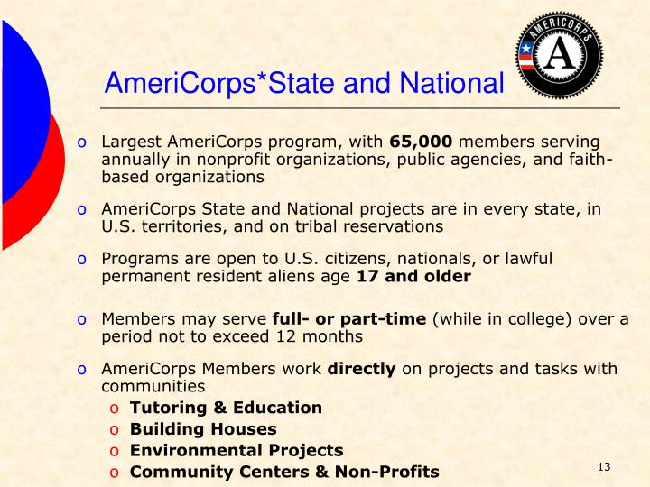 AmeriCorps*State and National