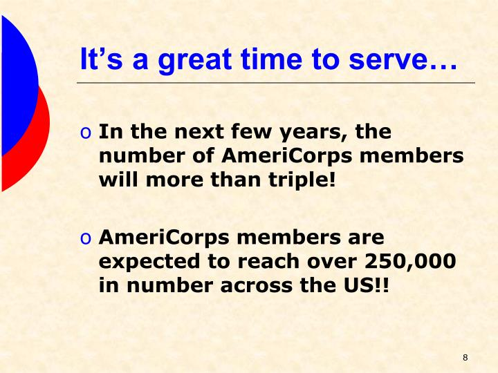 It's a great time to serve…