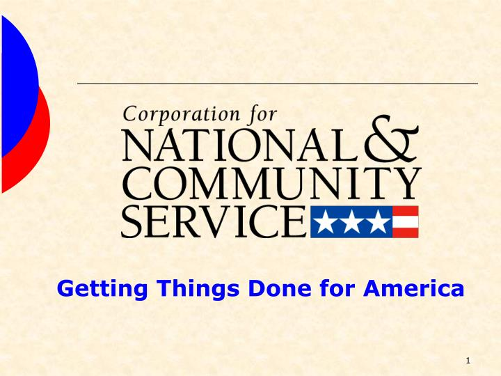 Getting Things Done for America