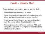 credit identity theft1