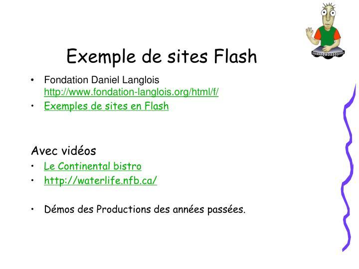 Exemple de sites flash
