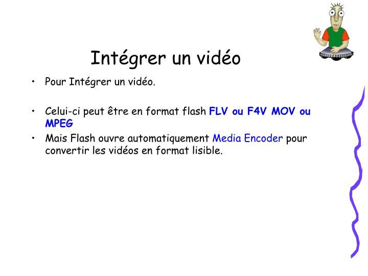 Intégrer un vidéo