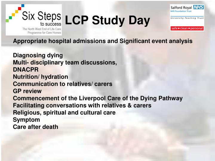 LCP Study Day