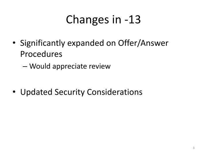 Changes in 131