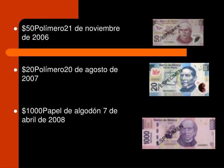 $50Polímero21 de noviembre de 2006
