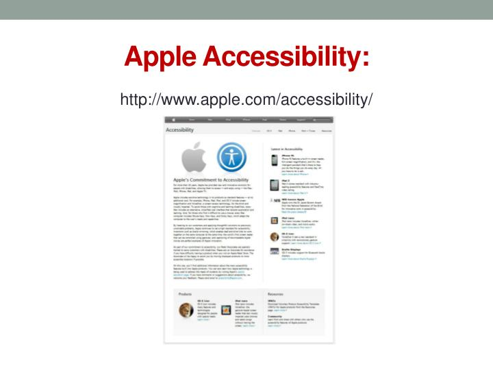 Apple Accessibility: