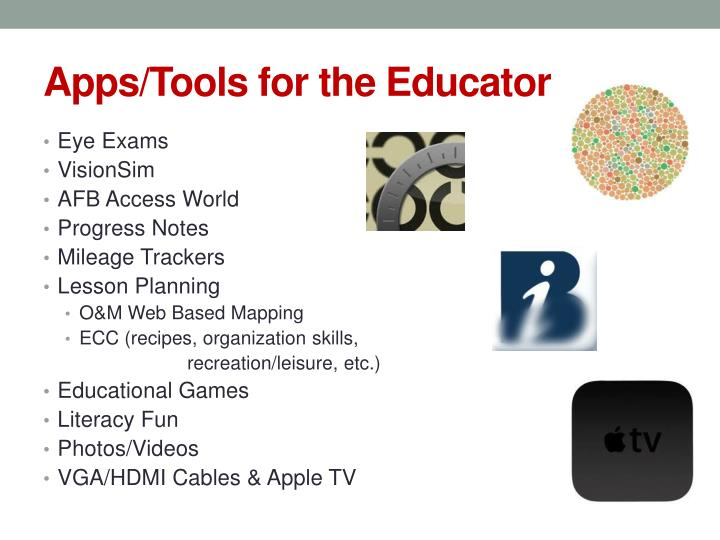 Apps/Tools for the Educator