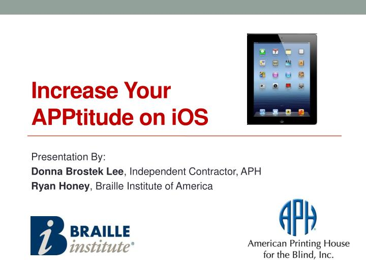 Increase your apptitude on ios