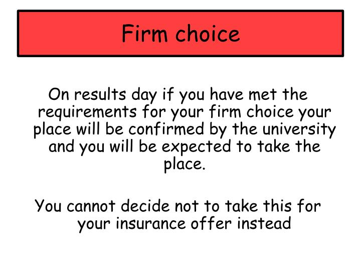 Firm choice
