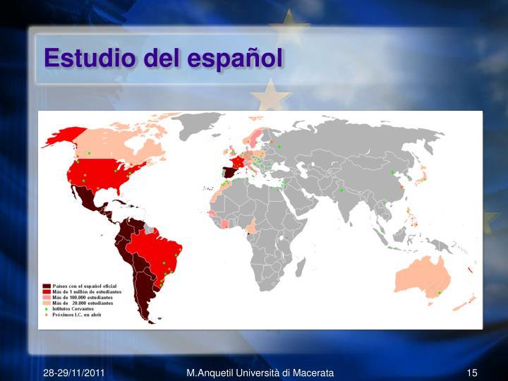 Estudio del español
