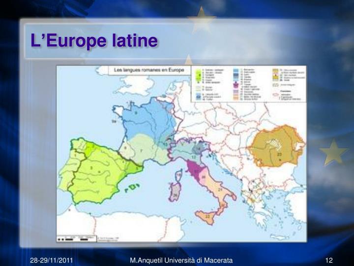 L'Europe latine