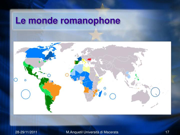 Le monde romanophone