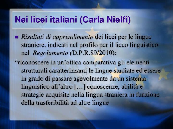Nei licei italiani (Carla Nielfi)