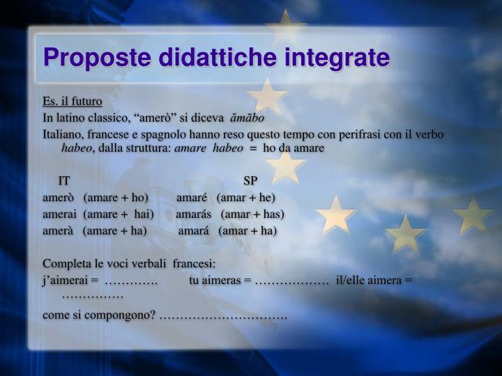 Proposte didattiche integrate