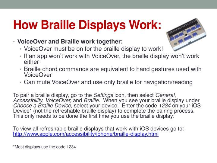 How Braille Displays Work: