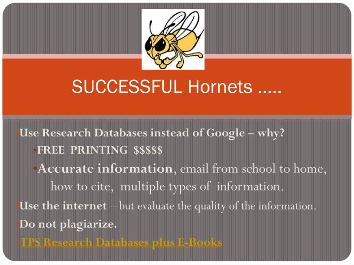 SUCCESSFUL Hornets