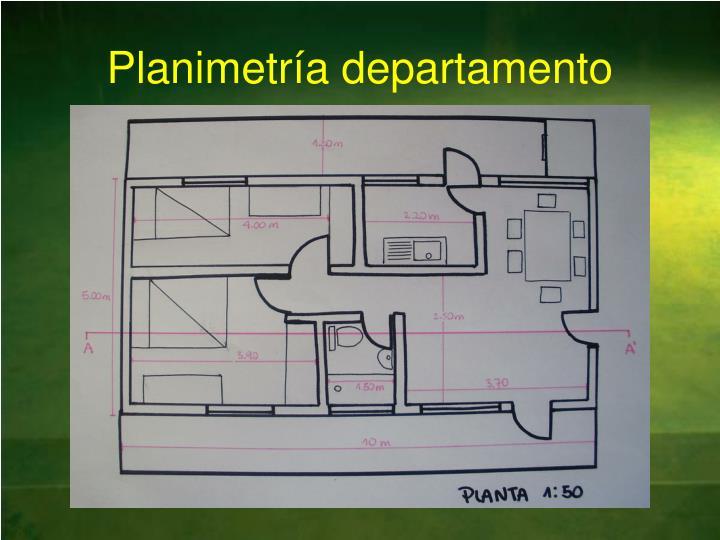 Planimetr a departamento