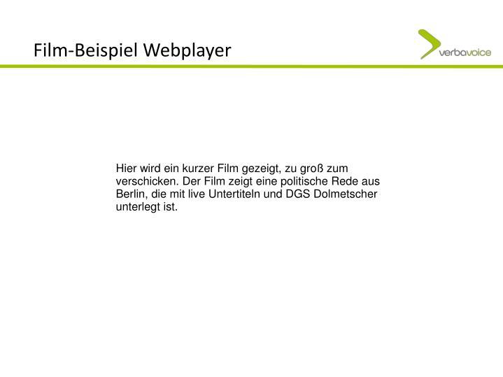 Film-Beispiel Webplayer