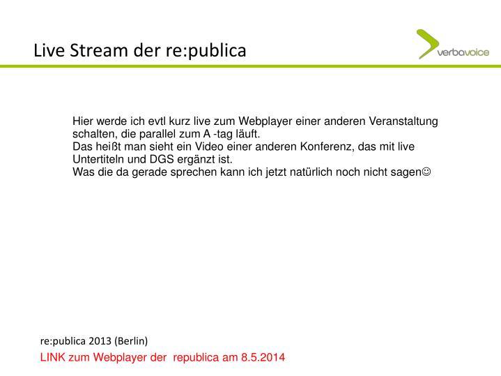 Live Stream der