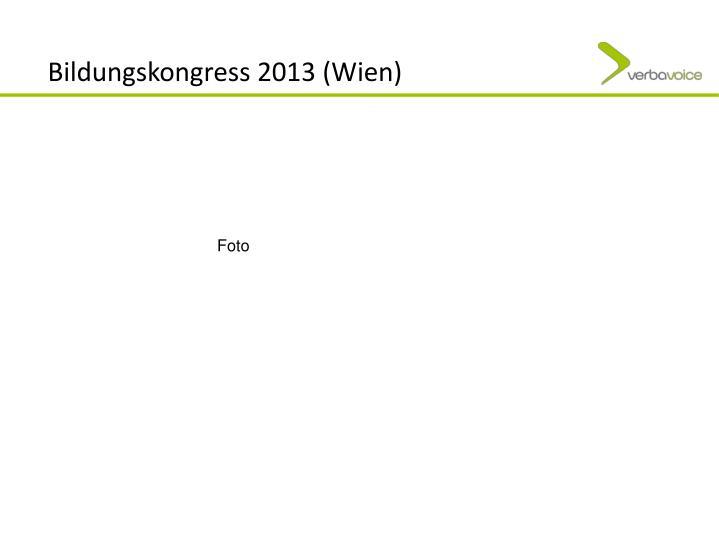 Bildungskongress 2013 (Wien)