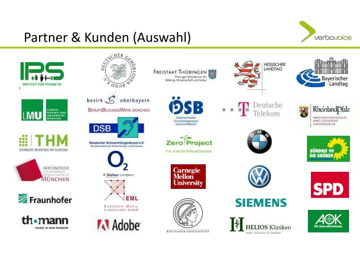 Partner & Kunden (Auswahl)