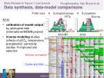 main research topics 1 continued d ata synthesis data model comparisons
