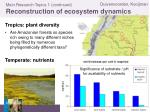 main research topics 1 continued reconstruction of ecosystem dynamics