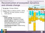 main research topics 1 reconstruction of ecosystem dynamics and climate change