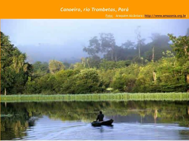 Canoeiro, rio Trombetas, Pará