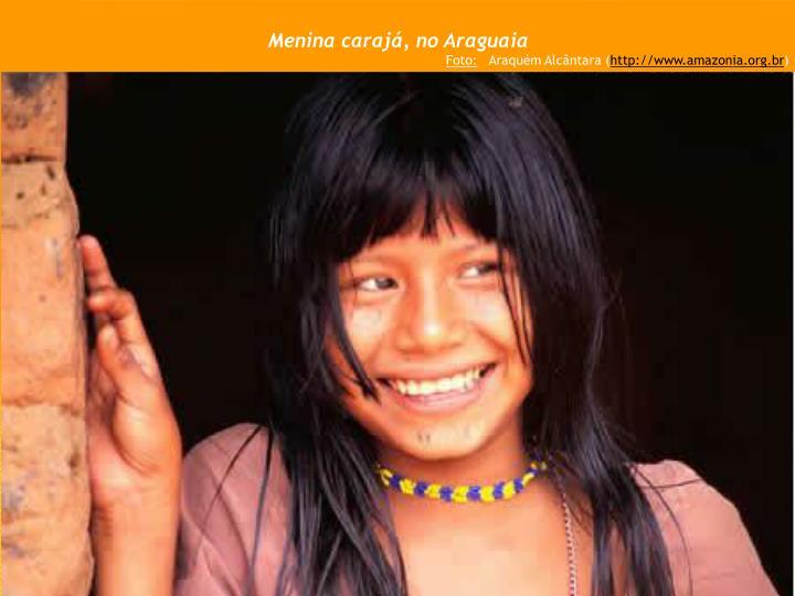 Menina carajá, no Araguaia