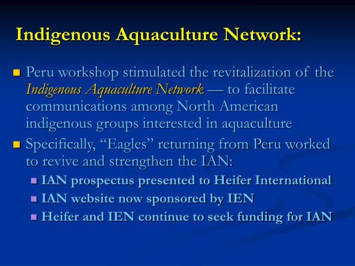 Indigenous Aquaculture Network: