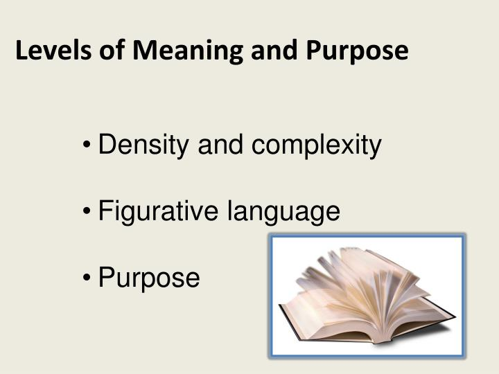 Levels of Meaning and Purpose